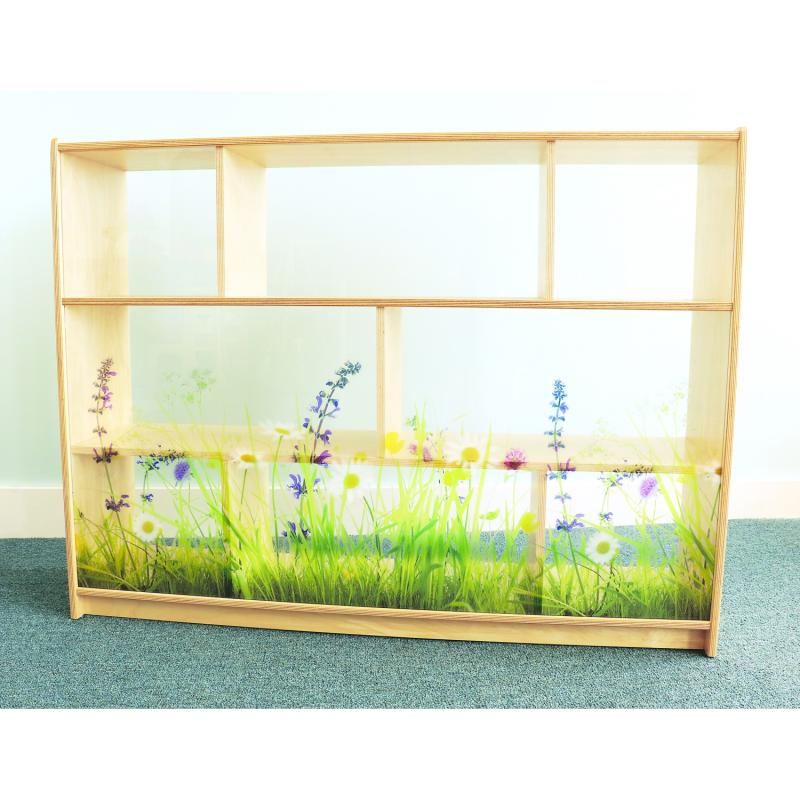 WB0249 - Nature View Acrylic Back Cabinet 36-in Height
