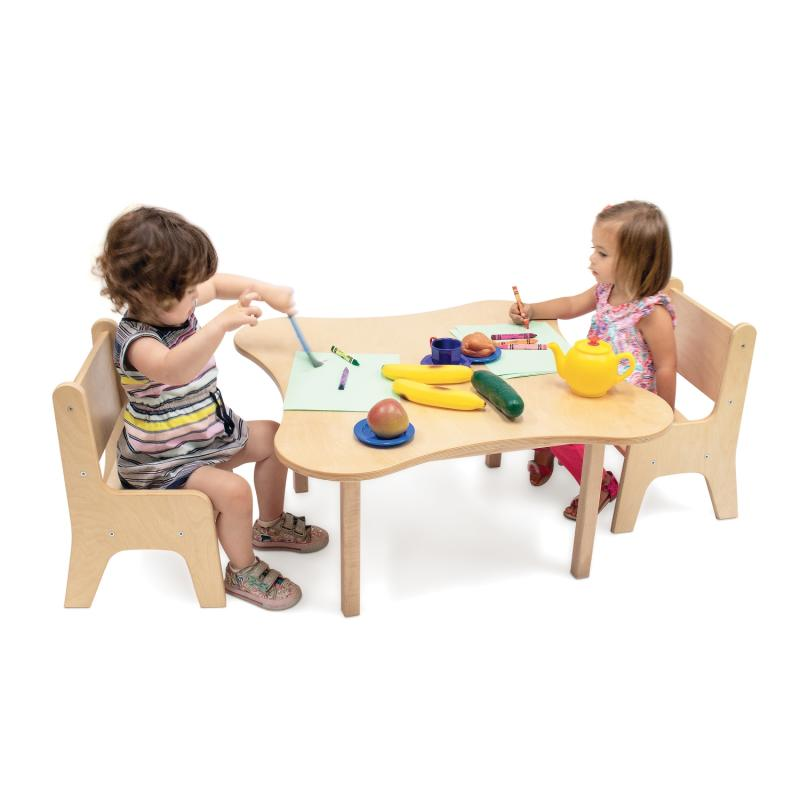 WB0181 Toddler Table and Two Toddler Chairs Set
