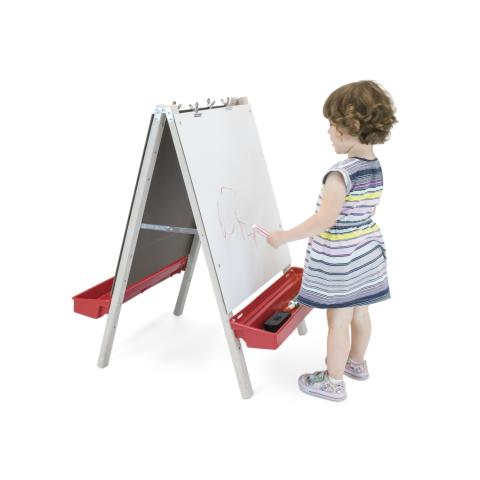 WB1863 Toddler Adjustable Easel with Write and Wipe Boards