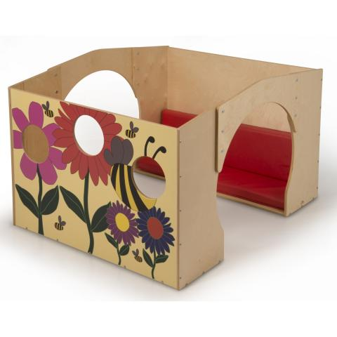WB2250 Flowered Reading Haven With Cushion