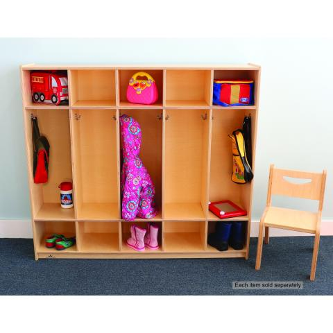 WB0112 Five Section Coat Locker [Chair sold separately]