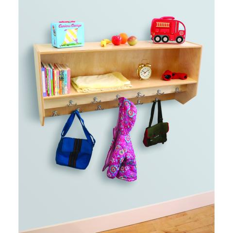 WB1056 - Double Row Wall Mount Coat Rack