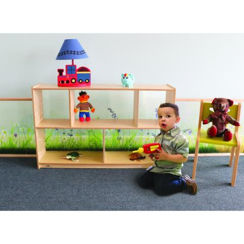 "WB0248 - Nature View Acrylic Back Cabinet 30""H"