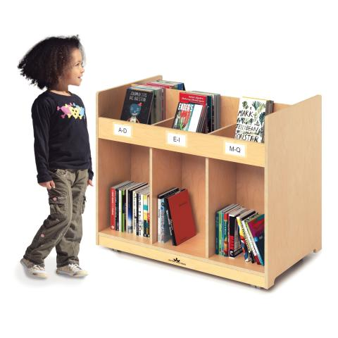 WB1821 - Mobile Library Book Cabinet