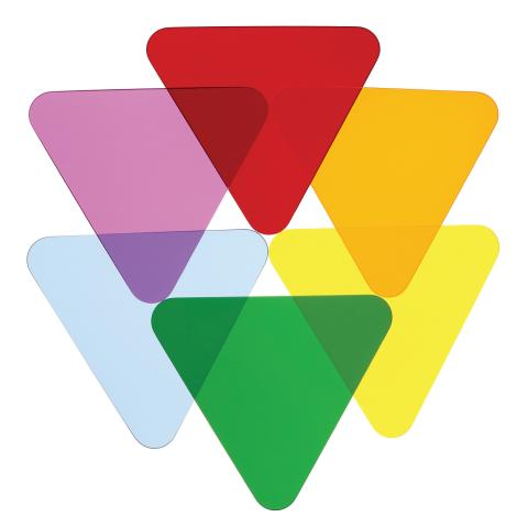 WB7724T - Color Wheel Triangles - Set Of Six