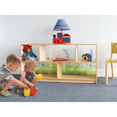 "WB0247 - Nature View Acrylic Back Cabinet 24""H"