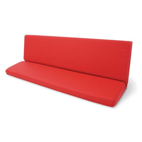 Red Vinyl Cushion