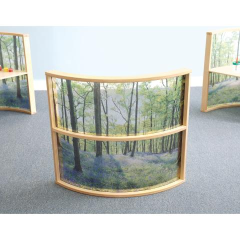 Nature View Curved Divider Panel 36H