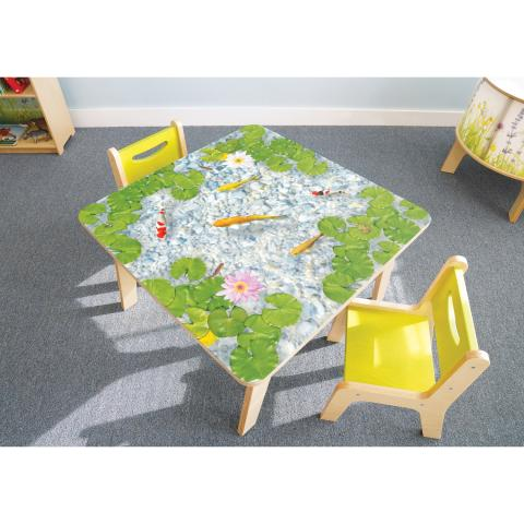 WB0541 Nature View Pond Table. Chairs sold separately.